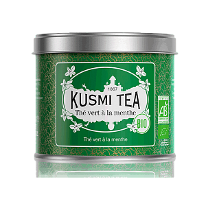 Зеленый чай Kusmi Tea Spearmint Green Tea (Organic Tea) / Мятный чай (100 гр)
